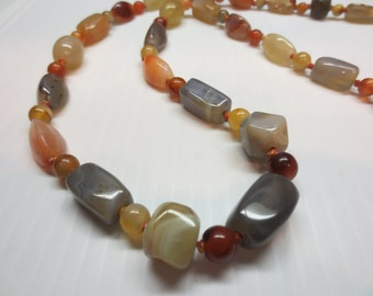 Glass Bead Necklace Vintage Beautiful Colors