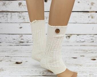 Leg Warmers button leg warmers,Knit Leg Warmers Cotton Leg warmers,Knit Lace trim,Legwarmers,women legwarmers,  boot warmers,  sock