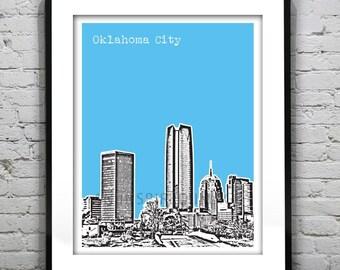 Oklahoma City Oklahoma Skyline Poster Art Print  Image