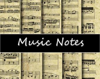"""Vintage Sheet Music  Digital Paper Pack - Instant download """"SHEET MUSIC"""", Vintage Paper; Scrapbooking, Invites, Cardmaking"""