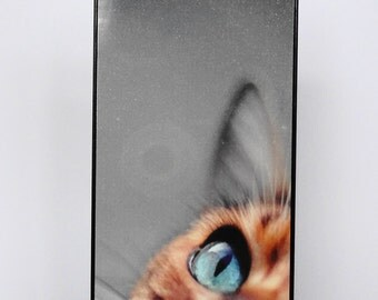 iphone case 6 Iphone 5 iphone 4 cat ginger blue eyes  mobile cell phone cover snap case Kitty pink Black Samsung case