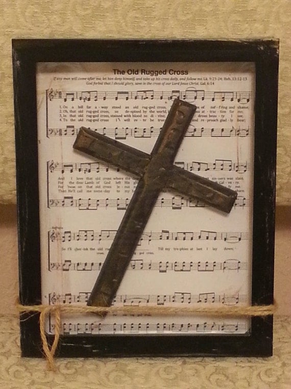 Items Similar To The Old Rugged Cross Background Is Placed