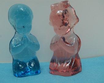 Choice Collectible Figurine Tiara Glass  Praying Boy or Girl