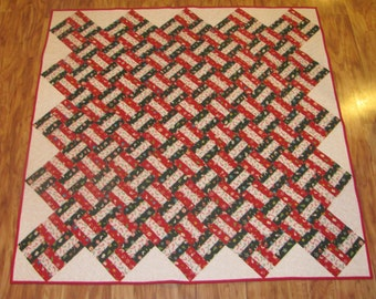 Christmas Fence Rail Quilt