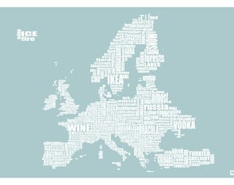 Typically European map - a curiously typical map of all things European - LIMITED EDITION