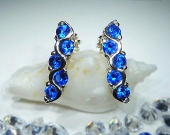 Mariane. Handmade Sapphire Earrings