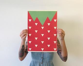 A3 Strawberry Print