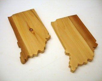 Solid Wood Indiana Drink Coasters (set of 4)