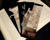 Set of 5 Bookmarks - Unique Handmade Book Sculptures - Fine Art Photography