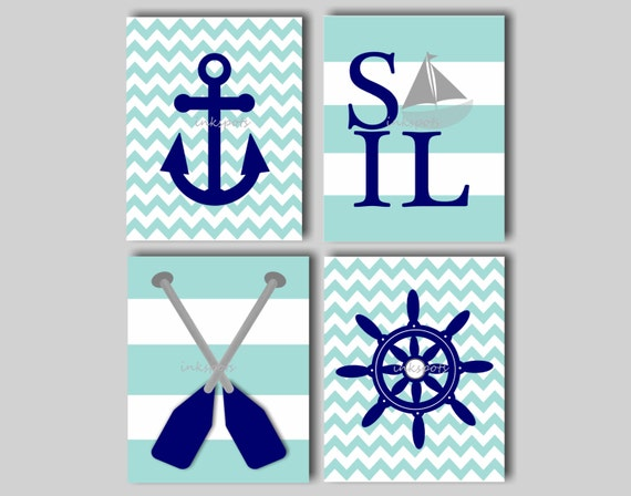 Items similar to Baby Boy Nursery Art Nautical Nursery ...