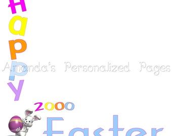 12x12 1-page Personalized Easter Scrapbook  Paper (Easter 6)