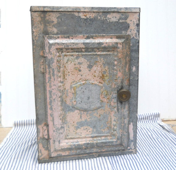 Antique Vintage Tin Pie Safe Pantry Shabby By
