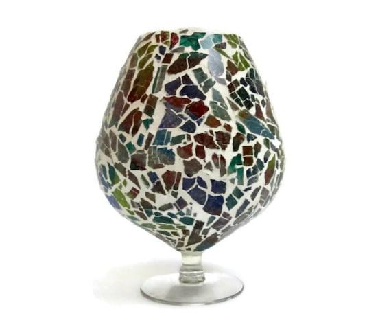 Broken Glass Vase: Vintage Vase Mosaic Vase Broken Glass Vase By