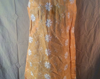 60s Pastel orange Jackie Kennedy dress