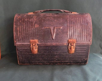 Vintage Miner's Thermos Lunch Box