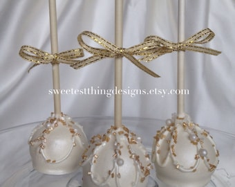 24 Elegant Oreo Pops / Oreo Truffle Pops / Cake  Pops by The Sweetest Thing Designs & Events