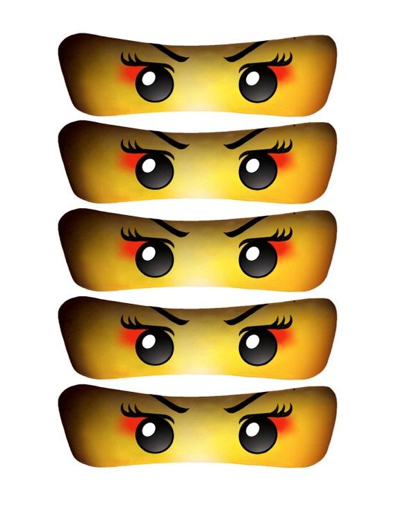 Current image with printable ninjago eyes