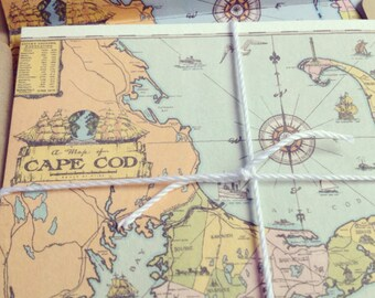Cape Cod Save The Dates // Map Save The Dates // Cape Cod Wedding// Nautical Wedding Stationary