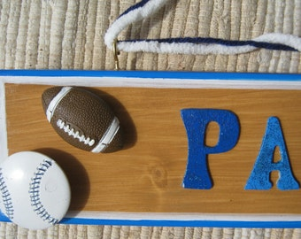 Sports Custom Made Hand Painted Wood Sign