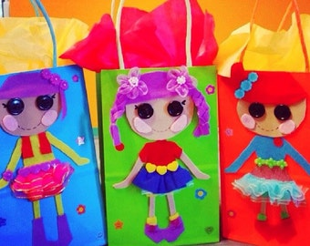 Lalaloopsy party bags.