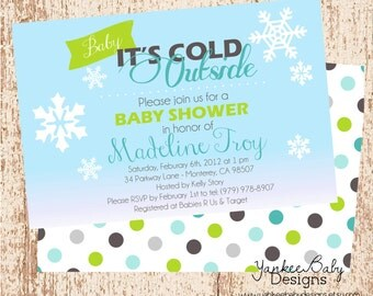 Baby It's Cold Outside - Boy - Invitation