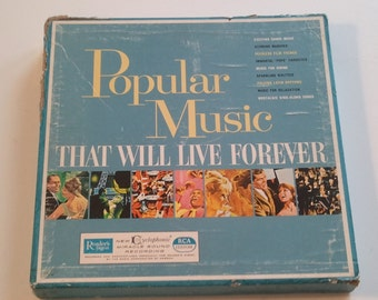 Vintage, Records, Vinyl, Box Set, Popular Music That will Live Forever, Readers Digest, Music, RhymeswithDaughter