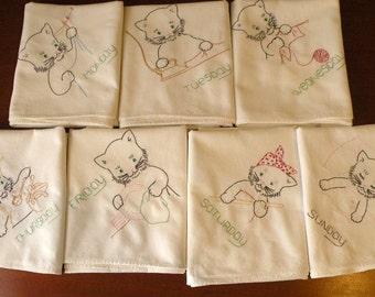 Seven Kittens Tea Towels
