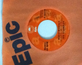 Joe Stampley Was It Worth It Vintage Vinyl 45 Promotional Record Epic 8 - 50224 Mono and Stereo