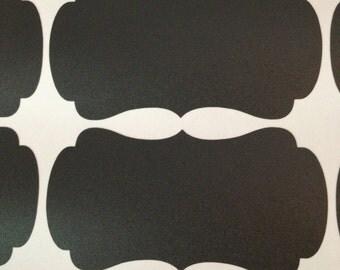 Chalkboard Stickers Set of 10 - Chalkboard Labels - Custom Labels - Write On Labels - Decorative Labels - Reusable Labels - Fancy Labels
