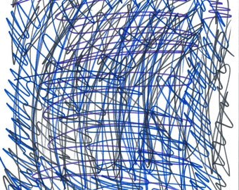 "Original Marker Drawing  -  ""Mind at War"""