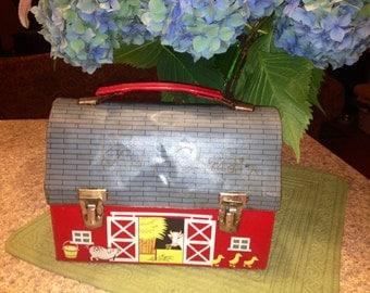 Great, Vintage, Children's Barn Lunch Box.