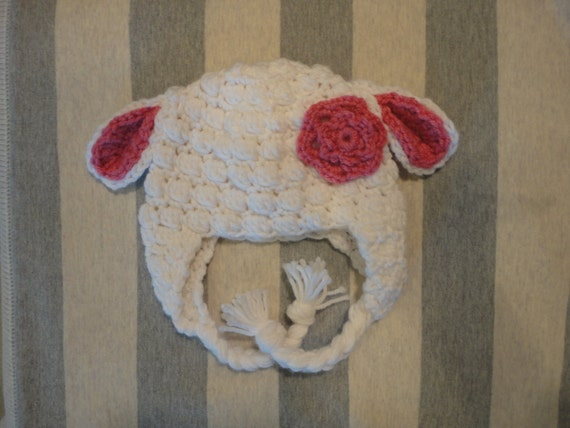 Little Lamb Crochet Hat (boy or girl version)