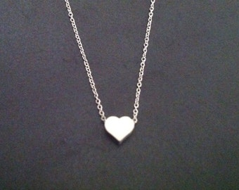 Tiny Heart Pendant Necklace -  Love Pendant - Mother's Day Gift, Gift for Mom, Gift for Her, Gift for Best Friend