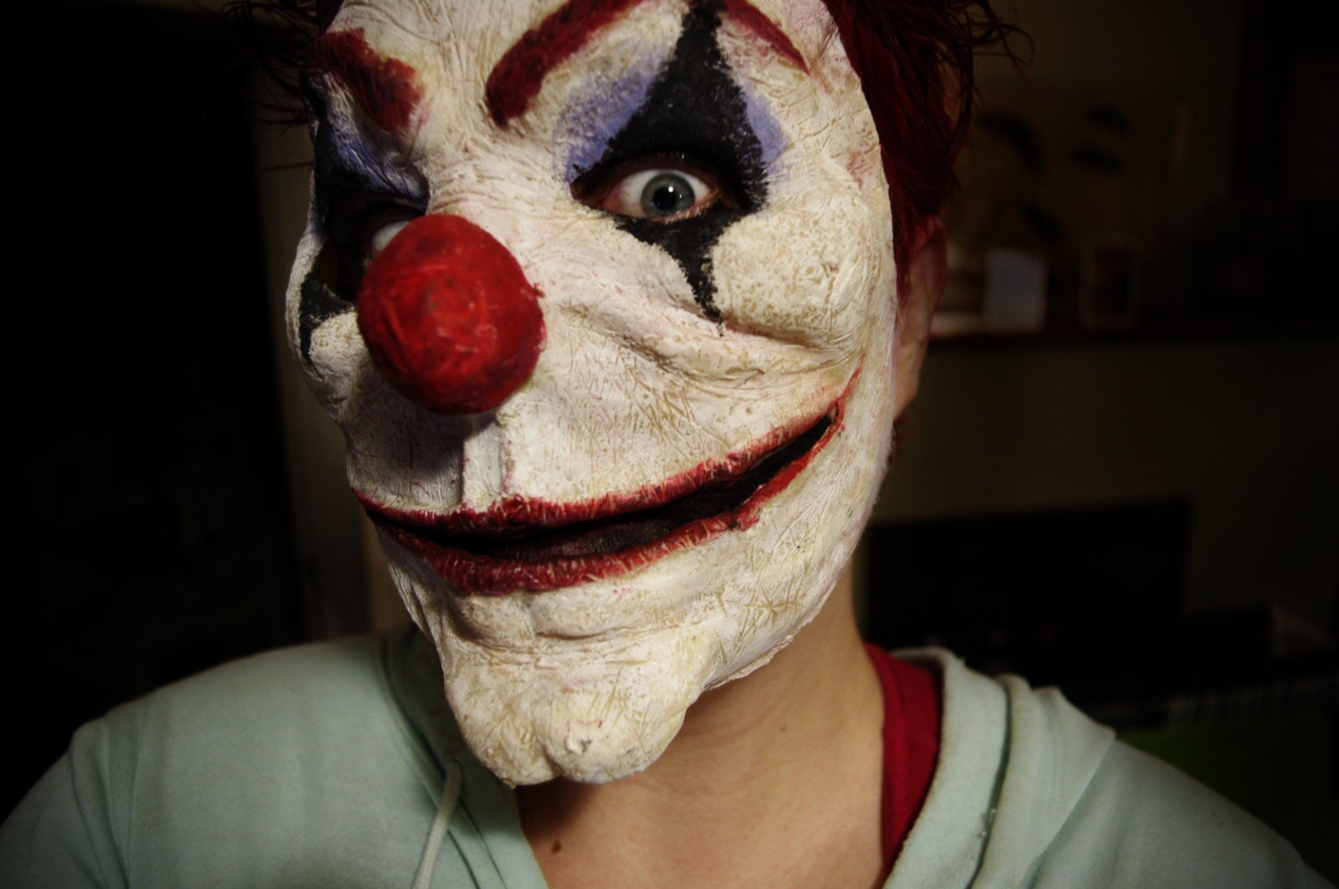Evil Clown Mask Halloween Costume Mask