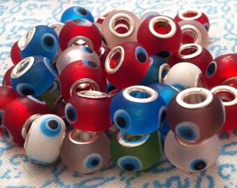 European style Evil Eye beads, charm beads, story beads, European beads