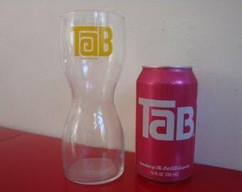 Vintage Tab Soda Glass