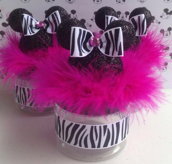 mickey mouse baby shower favor zebra and hot pink minnie mouse favor