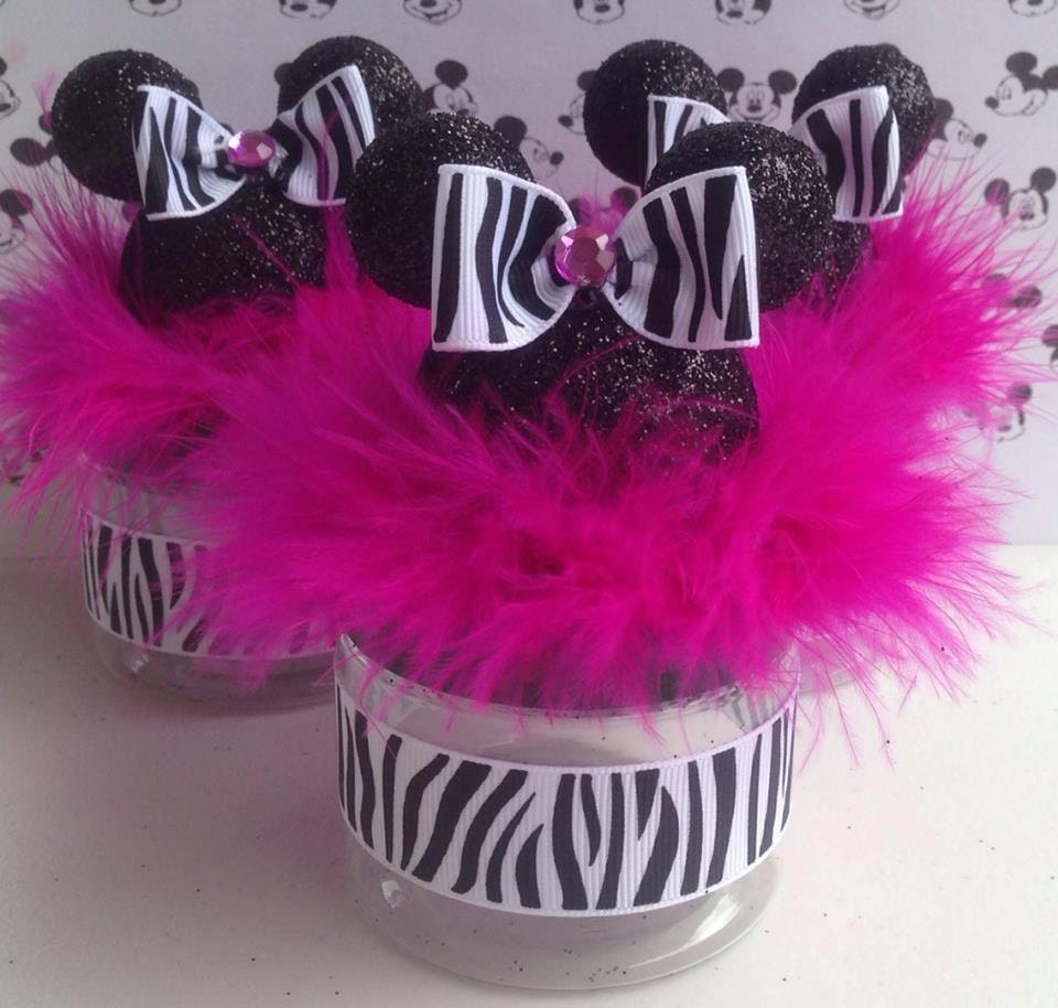 Minnie Mouse Baby Shower Party Favors: Minnie Mouse Baby Shower Favor Zebra And Hot Pink Minnie