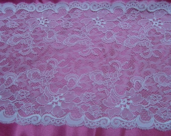 8 5/8 Inches Wide White lace - This Price is For One Yard Lace - Lot No. 138