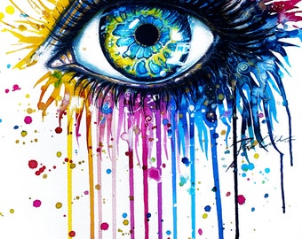 Rainbow Eye- signed Art Print