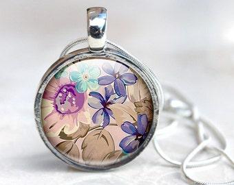 Flower Photo Jewelry - Flower Photo Pendant - Flower Glass Pendant (flower 9)