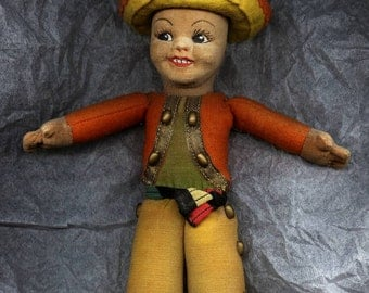 Vintage Norah Wellings Panchito Model K20 Mexican Boy Costume Doll