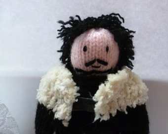 Jon Snow (Game of Thrones) knitted doll