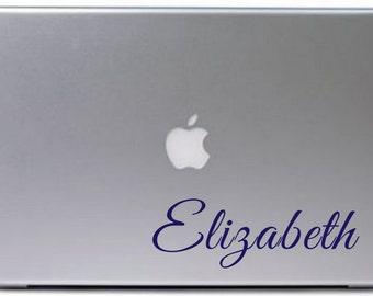 Custom Name Vinyl Macbook Stickers Mac Decal Apple Macbook Decals