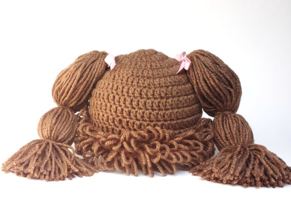 Crochet Pattern For Cabbage Patch Baby Hat : Cabbage Patch Hat Cabbage patch wig crochet cabbage patch