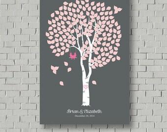 Wedding Guest Book -  Guest Book Tree - Wedding Tree - Birch Tree Guest Book - Guest Book - Wedding Print - Signature Tree - Wedding Gift