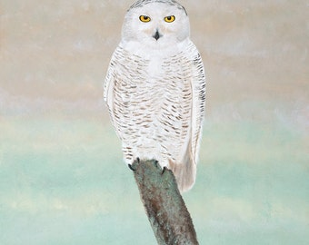 """Limited Edition Snowy Owl Giclee Print, """"Tundra"""" from Rosman, NC"""