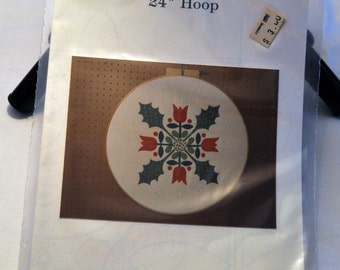 Christmas Bouquet quilted hoop pattern