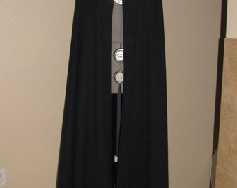 180 Black Batman costume Cape
