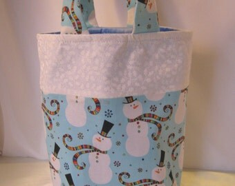 Christmas Gift Bag - Snowmen in the Wind